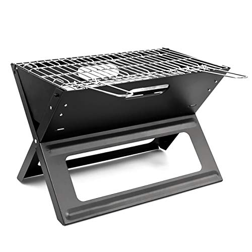 Relaxdays 10017881 10017881 - Grill plegable color Negro