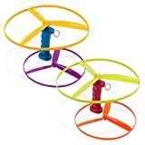 Battat – Skyrocopter – Flying Disc Toy with 2 Launchers & 4 Discs for Children Aged 3 Years Old & Up (6-Pcs), Multicolor