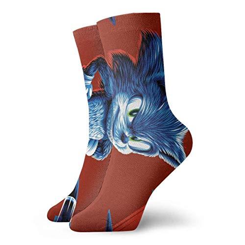 shenguang Calcetines Sonicc, calcetines con estampado 3d, calcetines comprimidos de fútbol, calcetines deportivos antideslizantes para correr