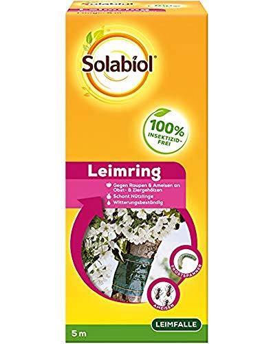 Solabiol Leimring, insektizidfreier Schutz für Obstbäume mit Spezialleim, stoppt am Stamm hochkriechende Schädlinge wie Ameisen und Raupen, 5m, grün