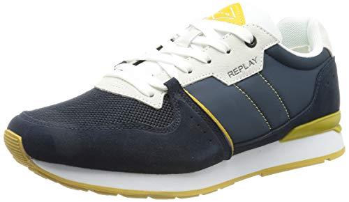 Replay Herren Adrien - Classic West Sneaker, 2910 Navy White OCRA, 46 EU