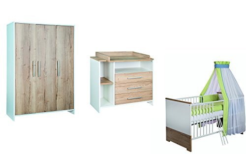 Schardt 11 567 09 00 Kinderzimmer Eco Plus mit 3-türigem Schrank