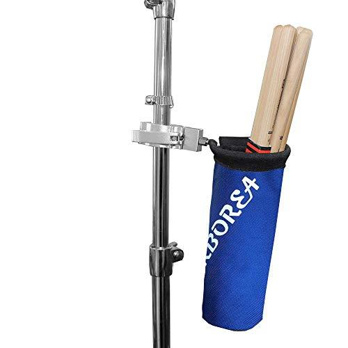Arborea ドラムスティック ホルダー ドラムスティック バッグ 12ペア収納可能 ナイロン素材 アルミニウム合金 (ブルー)
