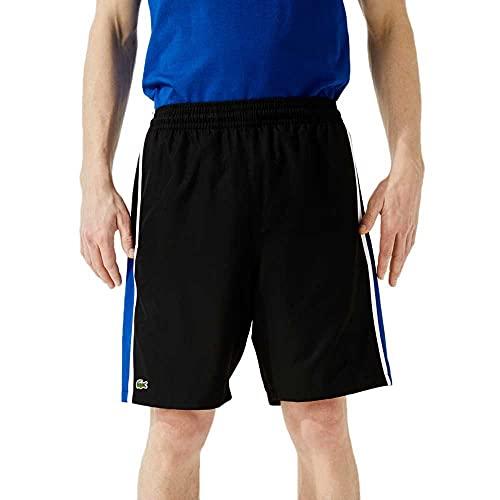 Lacoste Sport Herren GH314T Herrenshorts, Noir/Lazuli-Blanc, L