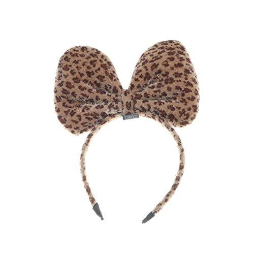 MSYOU 1pcs femmes léopard arc bandeau sexy mignon mignon bandeau décoratif