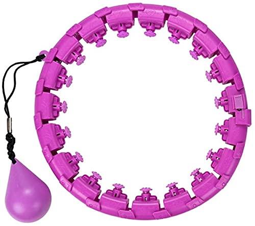 VTAMIN Heavy Lazy Hula Hoop Non lascerà la Dimagrimento del Grasso di Splicing Staccabile (Color : Purple 21 Knots)
