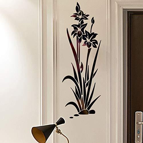 Zegeey 3D DIY Blume Form Acryl Wandaufkleber Moderne Aufkleber Dekoration Wohnkultur