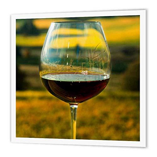3dRose HT 93801_ 3Wein Glas, Willamette Valley Weinbergen, Oregon US38jmi0817Janis Miglavs Eisen auf Wärmeübertragung, 10von 25,4cm für weiß Material