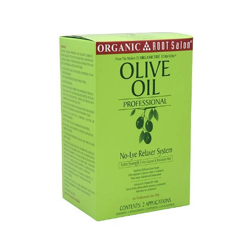 Organic Root Stimulator Olive Oil Professional No-Lye Relaxer System, Extra Strength, 48 Ounce by Organic Root Stimulator