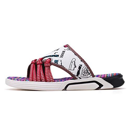 Ciabatte infradito Flip Uomo Pantofole Flop Grandi Sandali degli Uomini dei Sandali Etnici Marea Uomini Scarpe da Spiaggia Antiscivolo per,A,40