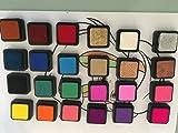 24 STEMPELKISSEN Mini Set Farben Stempel-Kissen Kinder Stempelfarbe bunt Inkpad