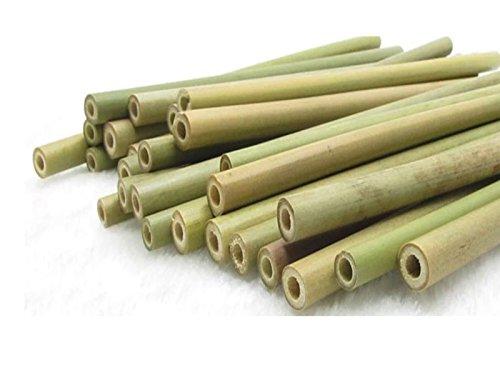 Natürliche Bambus-Strohhalme, 12 Stück, Reinigungsbürste, biologisch abbaubar, umweltfreundlich, Lebens-Stil, hilft der Umwelt
