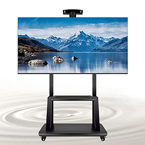 Soporte para TV Carro de TV móvil con bandeja para la mayoría de 32-75 pulgadas Plasma / LCD / LED Carro de pantalla para el hogar Soporte de piso para TV con ruedas Soporte para TV, distancia del ori