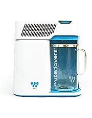 Distillateur d'Eau Waterlovers 2800 avec Technologie Intelligente - Enlève 99,9% des contaminants chimiques et bactériens - Porte-filtre en Inox - Pichet en verre 3L