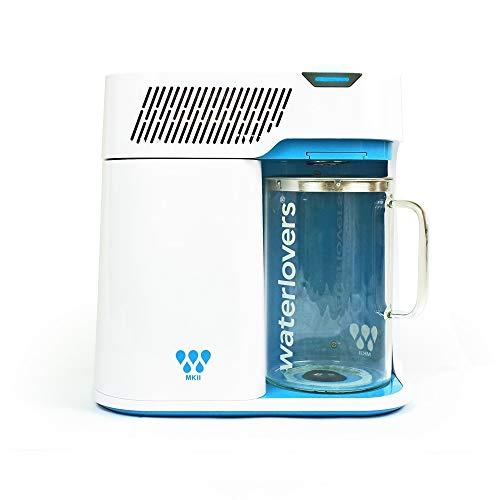 Waterlovers MKII Wasserdestilliergerät mit Smart Technologie - Edelstahl Kocher und 2.8L Glaskanne (Weiß)