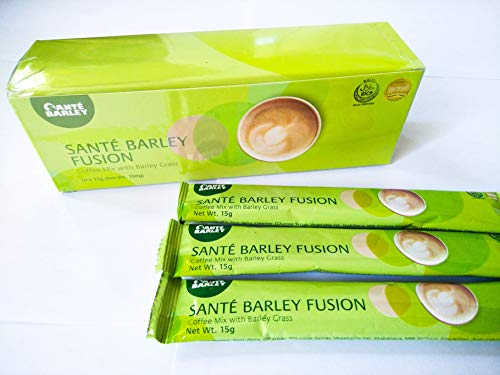3 Boxes of Sante Barley Fusion - A Very Special Coffee Blend - 10 Sachets Per Box! Helps to Counter The Degenerative Effects of Aging