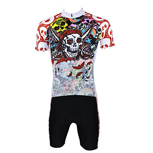 LMJ-Sweatshirt Maillot de Ciclismo de Verano y pantalón Acolchado de Silicona 3D...
