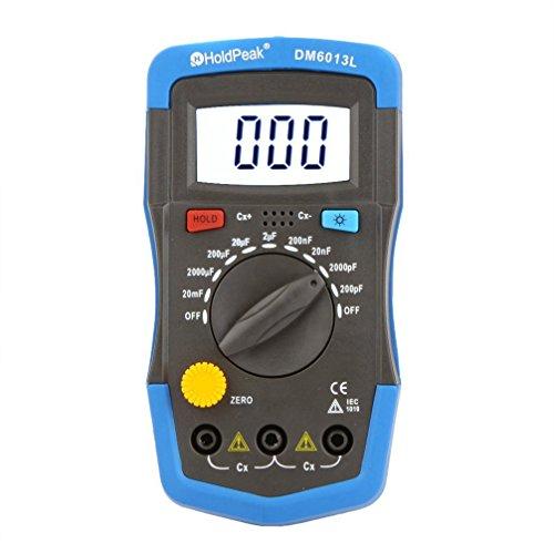 Kapazitaetsmessgeraet - SODIAL(R)DM6013L Handheld Kapazitaetsmessgeraet Kondensator Meter w / LCD Hintergrundbeleuchtung