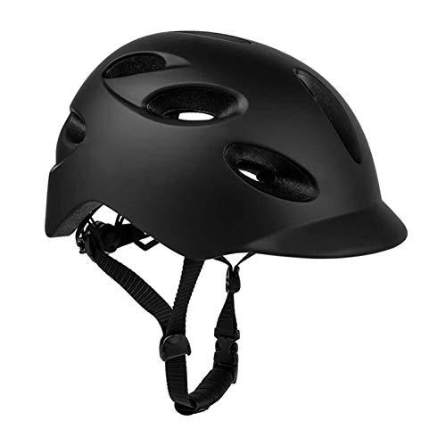Casco Para Bicicletas Para Adultos, Casco De Bicicleta De Montaña Mtb Con Luz De Seguridad Usb Y Visera, Moldeado Intergrally 16 Ventilación Casco De Ciclismo Para Hombres Al Aire Libre Mujeres