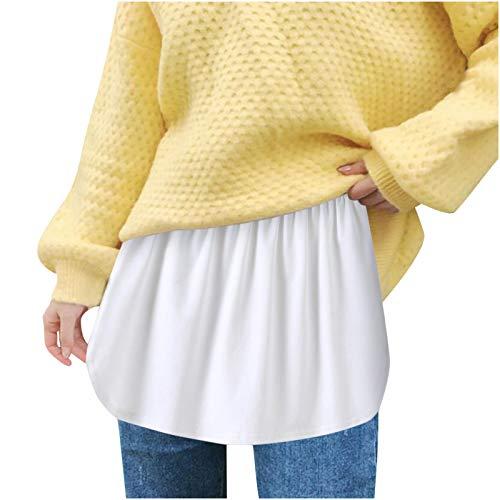 Mini Rock Extender Rock Damen Innenrock Layered Extender Rock Minirock Shirt Extender Damen Mädchen Basic Rock Mini Skirt Shirt Extenders für Pullover,Sweatshirt,Jacke,Shirt