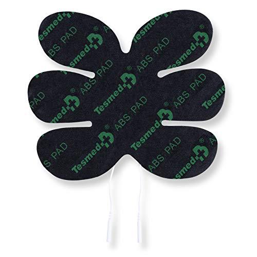 TESMED ABS Pad - Elettrodo specifico per Addominali - Compatibile con Tutti Gli elettrostimolatori con Cavo a spinotto da 2 mm.