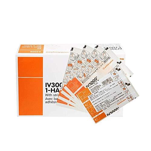 Transparenter Verband, IV3000 wasserdichtes PICC-Venenkatheterpflaster Medical Wound Dressing Tape Fixer Pflaster Stretch Fixation Bandage Antiallergische Selbstpaste,9cmx12cm