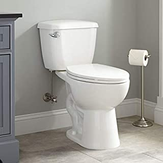 Seat Included Signature Hardware 308074 Monohan 1.28 GPF Siphonic Two Piece Elongated Chair Height Toilet