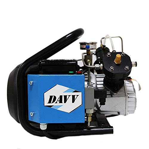 HPDAVV 110V / 60Hz 4500psi High Pressure Air Compressor for PCP Paintball Tank Filling, Auto-Shutdown Air Pump, Water Cooled Less Noise