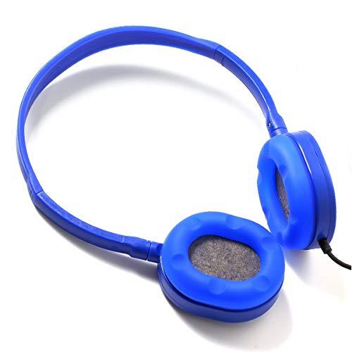 Bulk Headphones 6 Pack Kids Headphones for Grils -YMJ(Y6 Color Mixed) Earphones Earbuds for Kids,Students, Libraries, Laboratories (Mix) (Blue)