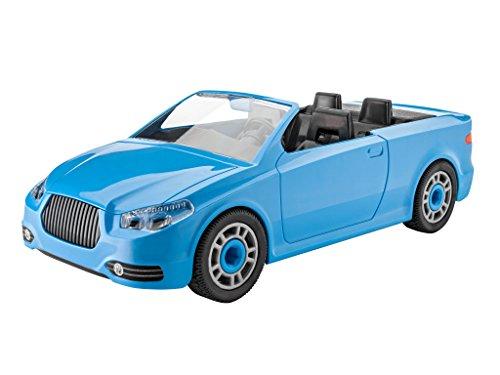 Revell 00801 Junior Kit Auto Modellbausatz für Kinder zum Schrauben, robustes Cabrio zum Basteln und Spielen, ab 4 Jahren, kindgerecht, müheloses Verbinden weniger Teile, mit Aufklebern - ROADSTER