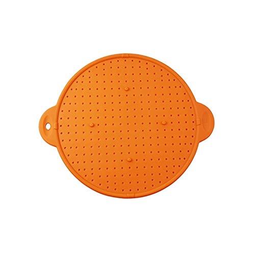 Reutilizable 3 en 1 utensilios de cocina multifunción de silicona salpicadura de silicona PAN PAN PAN PAN PANTILLA Tapa Tapa Tapón Tapón Pot Splatter Scread Schainder Lavaplatos, microondas y congelad