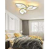 Lampara LED Salon Techo Modernas Regulable Dormitorio Plafon Luz Moderno Forma de flor Diseño Lamparas Con mando a distancia Interior Iluminacion para Comedor Cocina Niño Habitación Lámpara Colgante