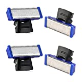 Replacement Head for Old Version of Microtouch Solo Mens Shaver Electric Micro Trimmer (4 PCS)
