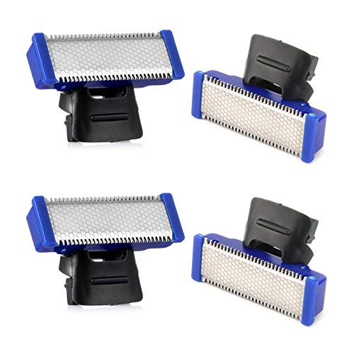 Replacement Heads for Old Version of Microtouch Solo Mens Shaver Electric Micro Trimmer (Pack of 4)