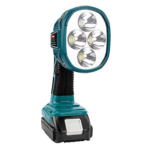 Sustituir para Makita interior y exterior 3 W/12 W de luz de emergencia, las luces LED, se pueden utilizar para la batería de iones de litio Makita 14,4 V-20 V (12 W pistola FBA)