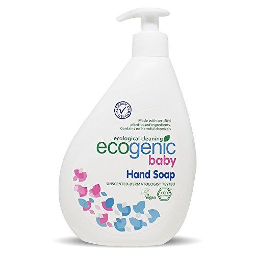 Ecogenic Baby Flüssige Handseife, 500 ml, Vollständig biologisch abbaubar (1 x 500ml)