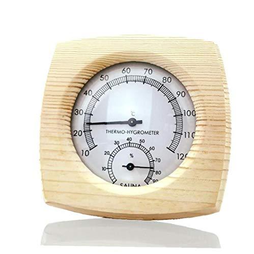 Sauna al Aire Libre de Interior del termómetro de Suministros Multifuncional Sauna inductivo Aguja del dial medidor de Humedad higrómetro