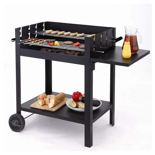 Callow Retail Easy Assembly - 1121 Charcoal BBQ Grill with Stand - No Screws Required