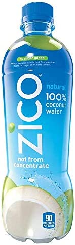 Zico Natural 100 Coconut Water Drink No Sugar Added Gluten Free 16 9 fl oz 12 Pack 2 Cases 12 product image
