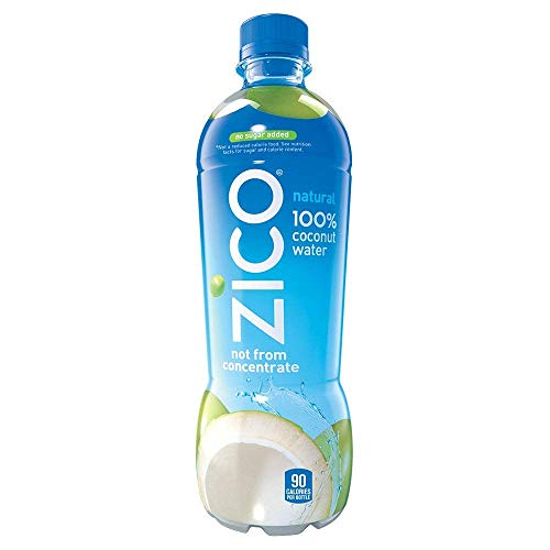 Zico Natural 100% Coconut Water Drink, No Sugar Added Gluten Free, 16.9 fl oz, 12 Pack (2 Cases(12 Pack))