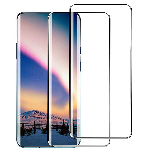 [2 Pack] Oneplus 7 Pro/OnePlus 7T Pro Screen Protector, Full Coverage Tempered Glass Screen Protector for Oneplus 7 Pro 5G/Oneplus 7T Pro [Case-Friendly] [3D Glass] [Bubble-Free] [Anti-Scratch]