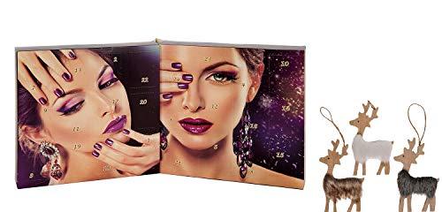 Beauty Adventskalender Weihnachtskalender 2019 Nagellack für Frauen Damen mit 24 festlichen Farben - Maniküre Nail Polish Set Geschenkideen zu Weihnachten & Advent