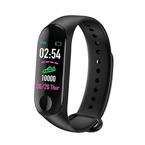 YDL Smart Watch Women Smart Band Bracelet M3 Blood Pressure Monitor Sport Waterproof Wristbands Men Smartband Fitness Watch (Color : Black)