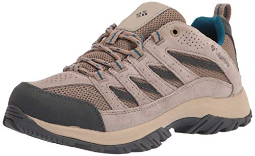 Columbia womens Crestwood Hiking Shoe, Pebble/Lagoon, 5.5...