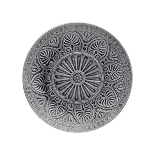 BUTLERS Sumatra Teller Ø 25 cm - Türkiser Essteller mit Muster, Keramik - Speiseteller, Servierteller - Feines Geschirr
