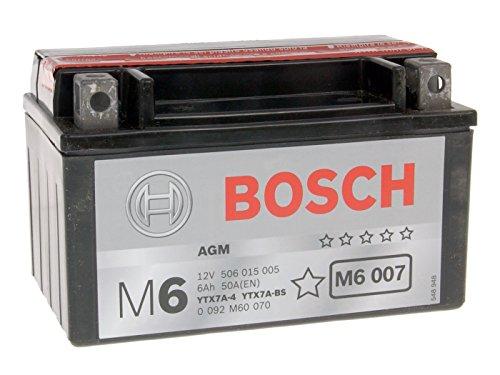 Batterie Bosch YTX7A-BS für SYM Fiddle II 50 4T Bj. 2010 - inkl. 7,50 EUR Batteriepfand