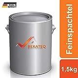 BEKATEQ BK-110EP Feinspachtel Epoxidharz 1,5kg, 2K Spachtel für Holz, Metall und Kunststoffe und Beton