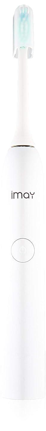 ラッカスかりて生む電動歯ブラシ 1回充30日長持ち 5段階 imay超音波歯ブラシ 5つモード IPX7防水 本体丸洗い(ホワイト)海外でも使えるUSB充電式