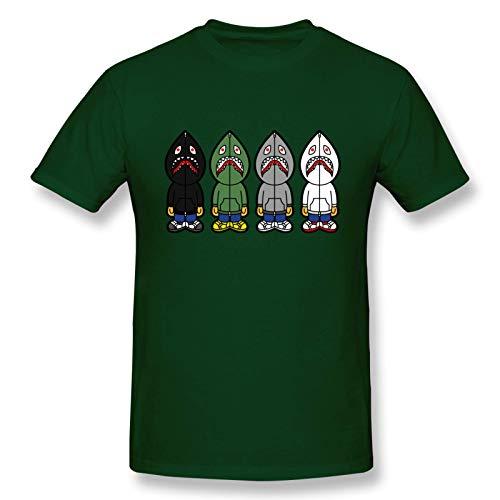 Ba-PE Shark - Camiseta de Manga Corta de Algod¨®n a la Moda para Hombres y j¨®Venes, Camiseta gr¨¢fica X-Large