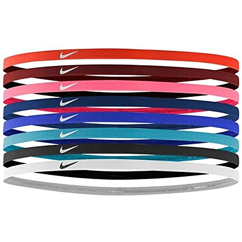 NIKE Skinny Hairbands Headbands 8-Pack - Assorted - Unisex